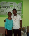 Carol Francis with Christopher Martin